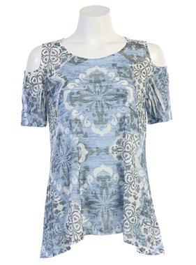 Jess & Jane Tapestry Open Shoulder Tunic