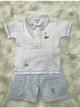 Kissy Kissy Mini Golf Bermuda Set w/ Collar by Kissy Kissy
