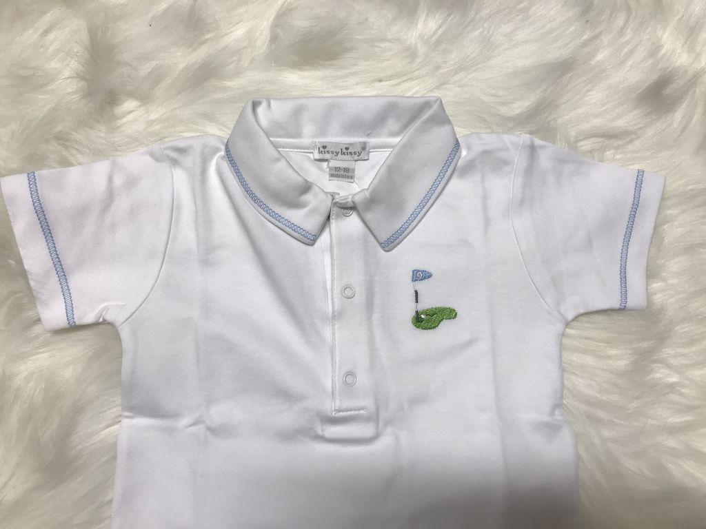 Kissy Kissy Mini Golf Bermuda Set with Collar by Kissy Kissy