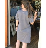 House Of Quirky Stripe Twist Front Tee Dress