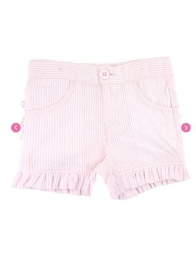 Ruffle Butts Pink Seersucker Ruffle Shorts