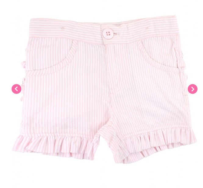 Ruffle Butts Pink Seersucker Ruffle Shorts