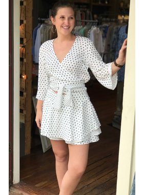 House Of Quirky Polka Dot Wrap Top