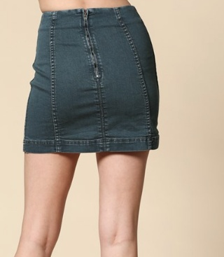 By Togeher Fitted High Waisted Denim Skirt