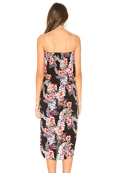 House Of Quirky Wild Hibiscus Strapless Dress