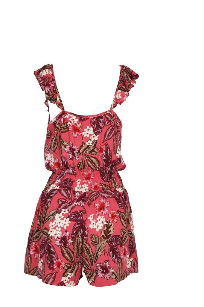 House Of Quirky Tropical Islands Playsuit