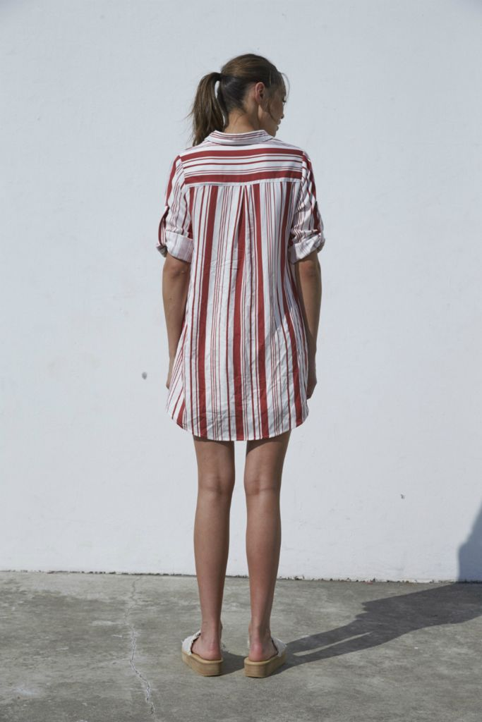 House Of Quirky Stripe Tunic Shirt