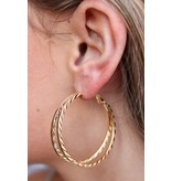 Caroline Hill Textured Split Hoop Earring
