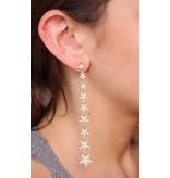 Caroline Hill Star Lineup CZ Post Drop Earring