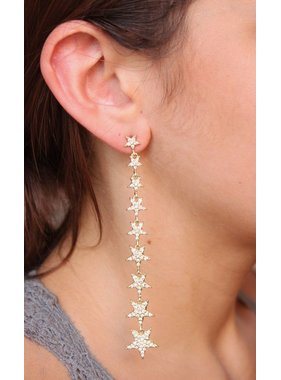 Caroline Hill Star Lineup CZ Post Drop Earring