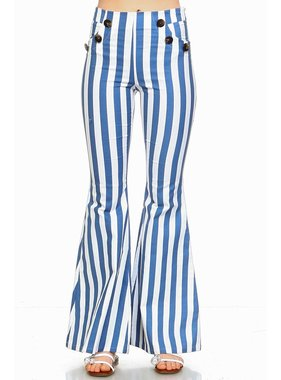 TCEC Striped Bell Bottoms