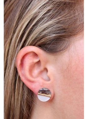 Caroline Hill Jimba Two Tone Resin Post Earring