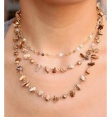 Caroline Hill Carina Triple Layer Chipped Stone Necklace