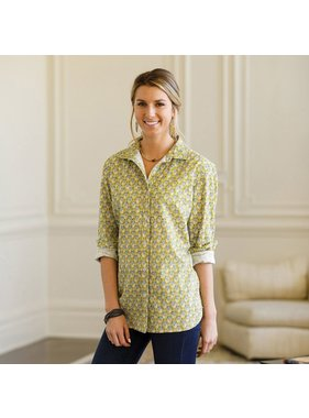 rockflowerpaper Harlow Olive Button Down Shirt