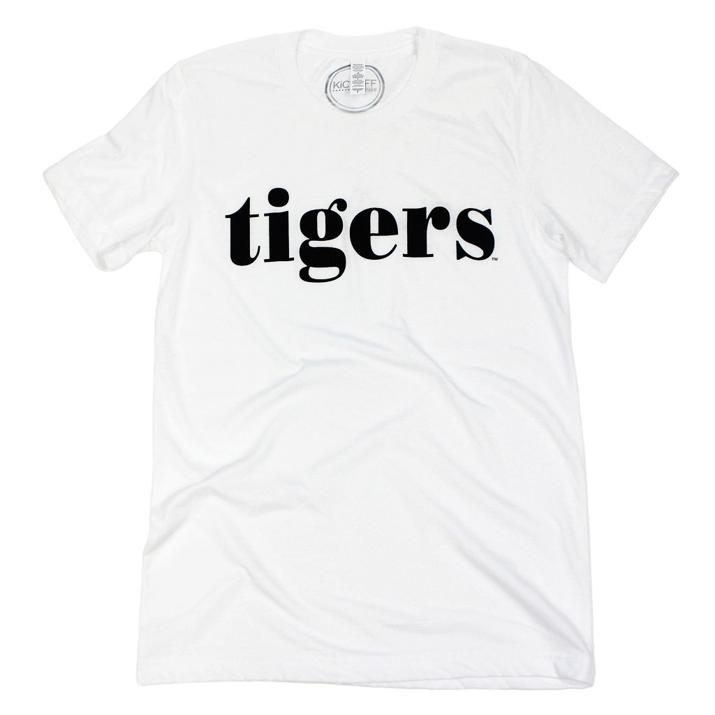 Kickoff Couture Tide/ Tigers plain white tee