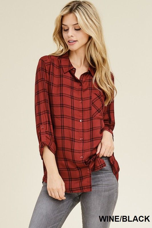 Staccato Basic Collar button down top