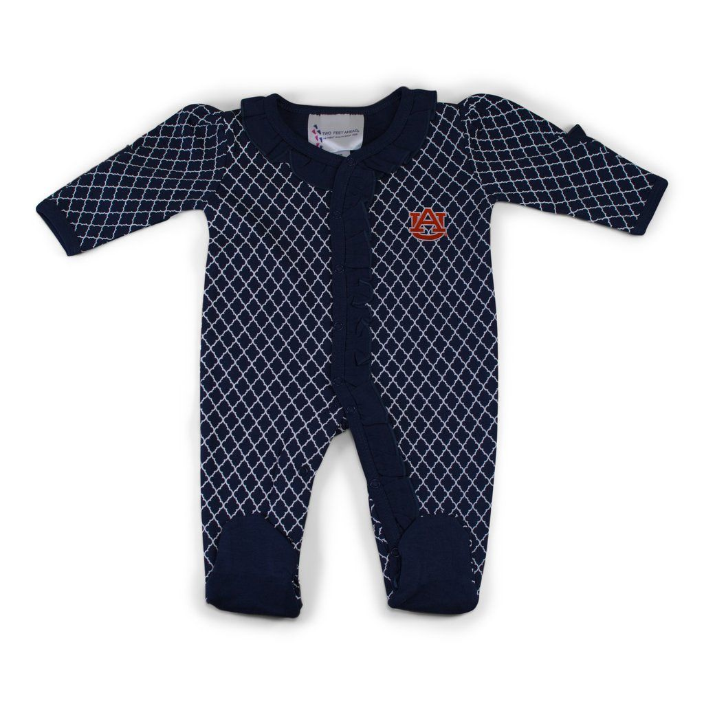 Two Feet Ahead Lattice Footed Onesie