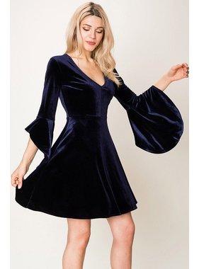 HYFVE Velour v-neck dress