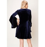 HYFVE Velour v-neck dress