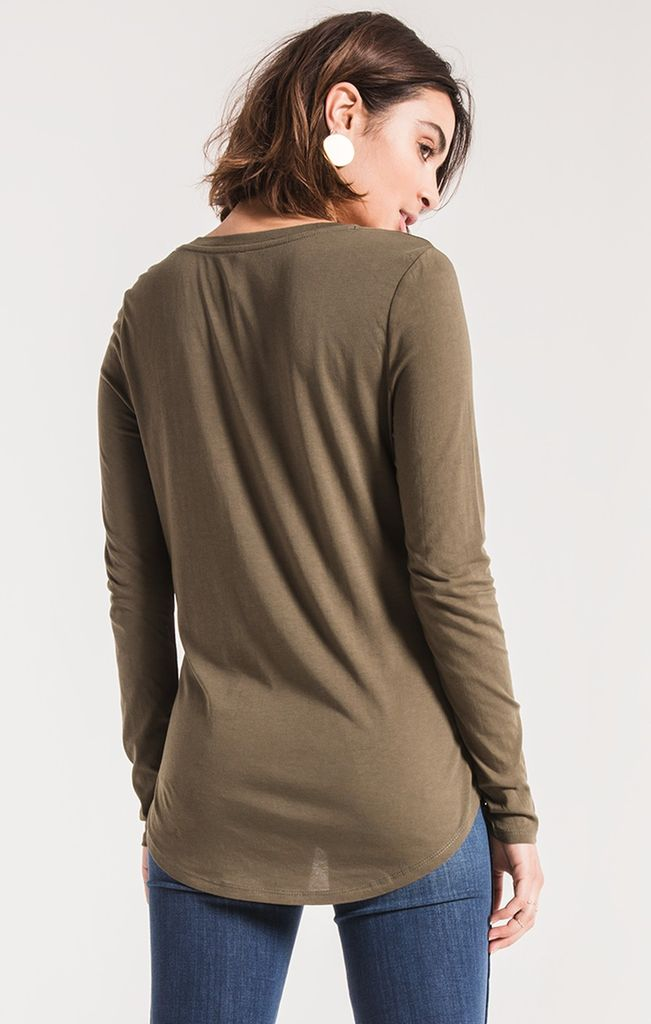 Z Supply The long sleeve micro modal tee