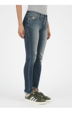 Articles of Society Sammy diagonal hemline jean