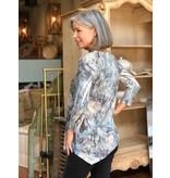 Jess & Jane Oceania light gage sweater knit asymmetrical tunic