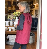 Staccato Hooded Vest with Drawstring waistline