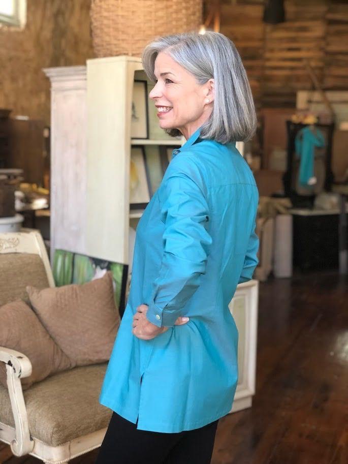 Foxcroft Harlow Long Sleeve Blouse