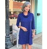 Lulu B Cowl Collar Travel Dress by Lulu B