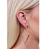 Caroline Hill Tri delt triangle hoop earring