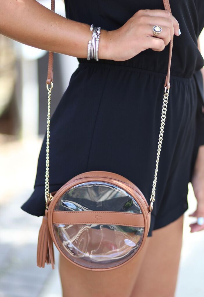 Caroline Hill Coco circular bag with tassel