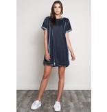 Wishlist, Inc. Velvet shirttail mini dress