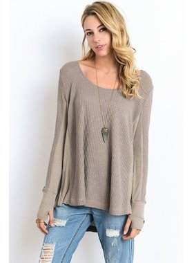 Wishlist, Inc. Thermal scoopneck top