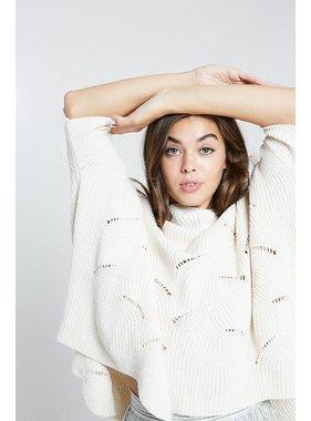 Wishlist, Inc. Wavy hem chenille sweater