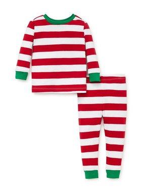 Little Me Striped 2 piece pajama set