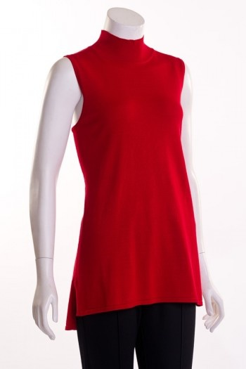Erin London Sleeveless Mock Neck Sweater by Erin London