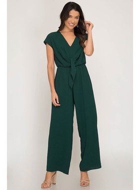She + Sky Jumpsuit with tie front