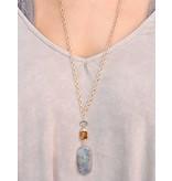 Caroline Hill Ara 30 druzy and stone pendant necklace