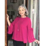 Bali Corp Blouse with Flowy Tie Sleeves