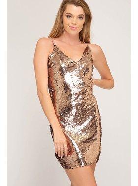 She + Sky Sequin bodycon dress