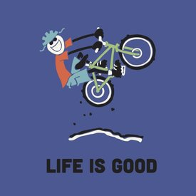 Life is Good Boys Crusher Tee, LIG Bike