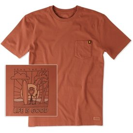 Life is Good Men's Pocket Crusher Tee, Seas the Day
