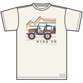 Life is Good Men's Crusher Tee, Ride On Jeep
