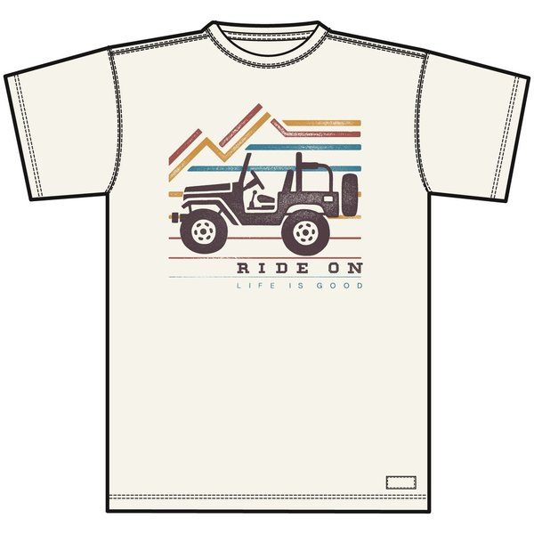 Life is Good Men's Crusher Tee Ride On Jeep