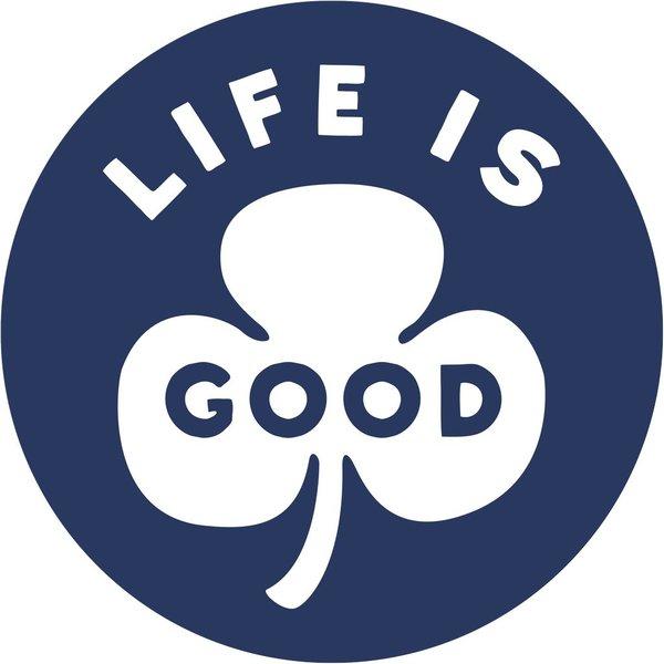 LIG Circle Magnet Shamrock<br /><br />Life is Good Circle Magnet - 4&quot;