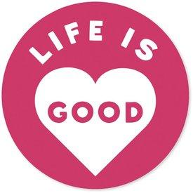 "4"" Sticker Life is Good Heart"