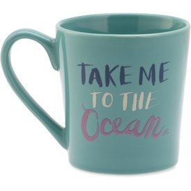 Everyday Mug, Take Me to the Ocean, Bright Teal