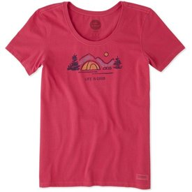 Life is Good Womens Crusher Scoop Tee, LIG Tent
