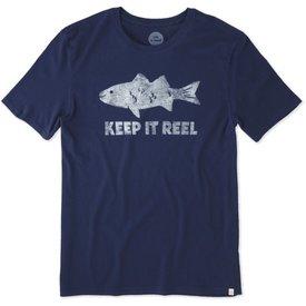 Life is Good Men's Smooth Tee, Keep it Reel Fishing