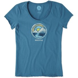 Life is Good Womens Smooth Tee, Breathe